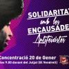 Concentració solidària amb els antifeixistes encausats