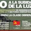El Secretariat Polític del Partit Comunista dels Pobles d'Espanya davant el brutal incremement del preu de la llum que, a més, es produeix en una situació crítica per a les famílies