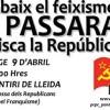Homenatge a Lleida als combatents republicans i a les víctimes del feixisme