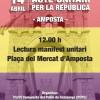 14 d'Abril: Acte Unitari per la República a Amposta