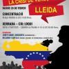 Acte a Lleida en suport a Veneçuela