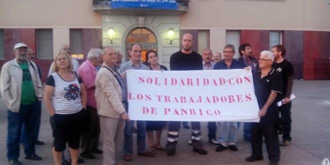Solidaritat amb els treballadors en lluita de Panrico des de Santa Coloma de Gramenet