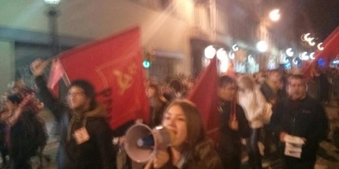 Crònica de la manifestació contra la reforma de la llei de l'avortament