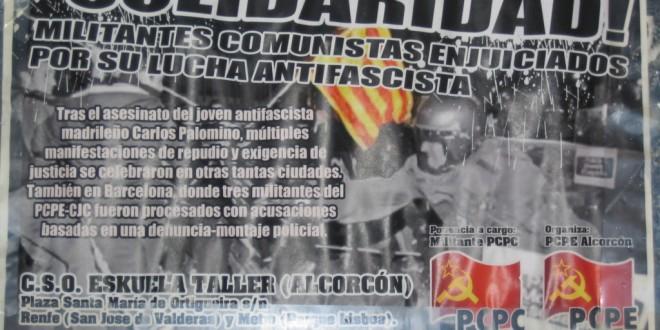 Solidaritat amb el CSO Eskuela Taller d'Alcorcón