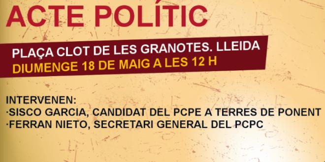 Acte polític a Lleida