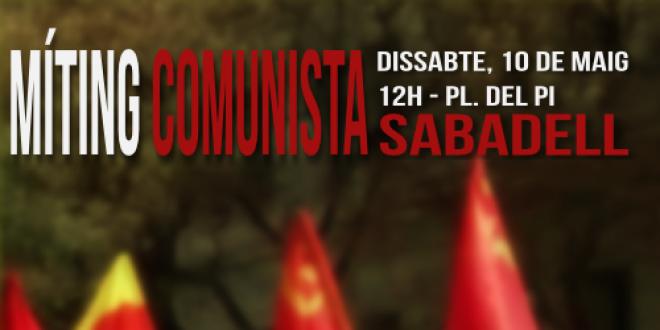 Míting comunista a Sabadell