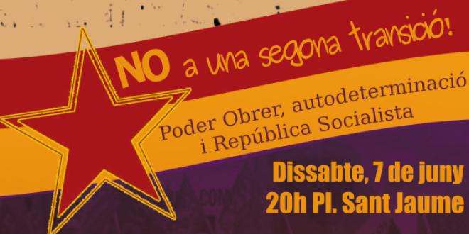 Concentració republicana a Barcelona