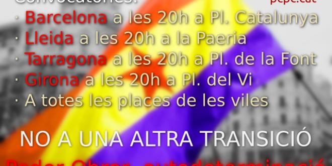 NO A UNA SEGONA TRANSICIÓ!