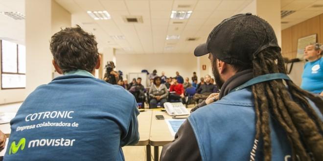 Davant la vaga de les subcontractes de Telefónica-Movistar a la província de Barcelona