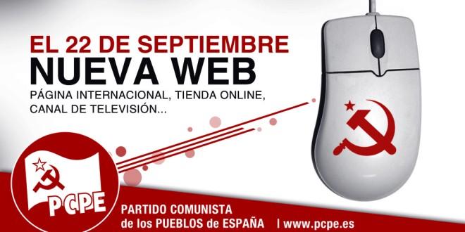 El 22 de setembre no et perdis la nova web del PCPE!