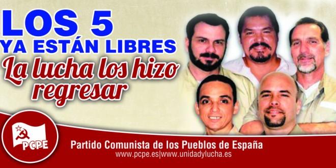 Els cinc ja són lliures, la lluita els ha fet tornar