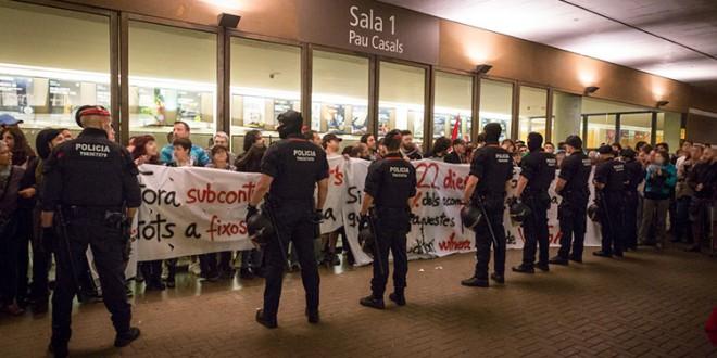 Solidaritat amb els i les vaguistes de l'Auditori de Barcelona. Prou repressió contra el moviment obrer