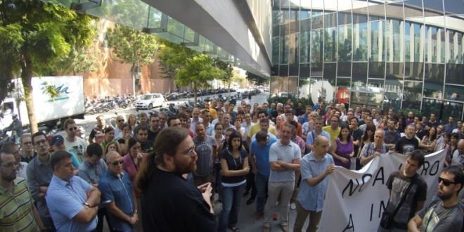 Solidaritat amb els treballadors i treballadores d'INDRA Sistemas,  NO A L'ERO