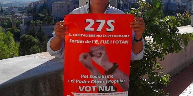 El PCPC fa campanya pel vot nul a Lleida ciutat i comarques