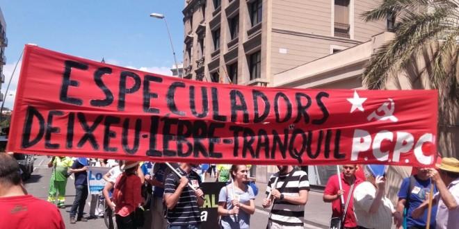 El PCPC present a la manifestació en contra del nou Pla Hidrológic Nacional