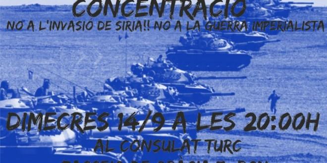 No a la guerra imperialista! No a l'invasió de Síria!