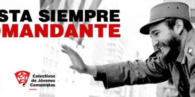 El Comitè Central del PCPE ret homenatge al comandant Fidel Castro Ruz, gloriós dirigent revolucionari mort avui dia 26 de novembre de 2016 a l'Havana