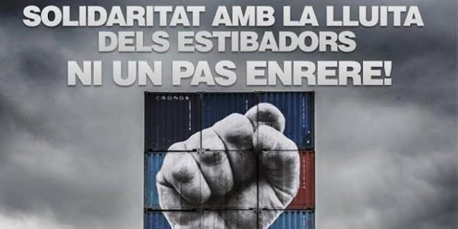 Solidaritat amb els treballadors de l'estiba!