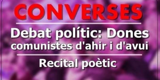 Debat polític i recital poètic dissabte 11 de Març