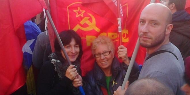 El PCPC present a la manifestació de l'11 de Novembre a Barcelona.