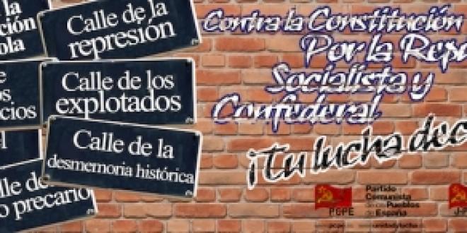 6 Diciembre: no queremos reformar la constitución del 78, nuestro objetivo es derrotar a la burguesía y su monarquía
