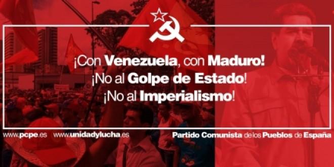 Comunicado en solidaridad con la República Bolivariana de Venezuela ante el agravamiento de las acciones golpistas