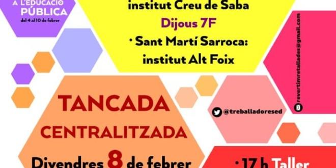 Setmana de lluita per l'Educació Pública: Tancades del 4 al 10 de Febrer