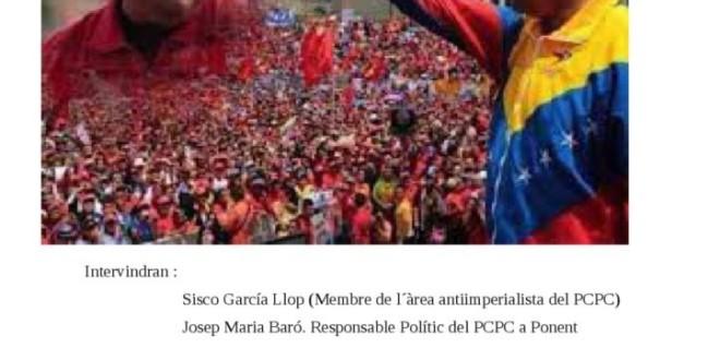 """Xerrada a Lleida: """"Cop d'Estat Imperialista a Veneçuela: Causes i conseqüències""""."""