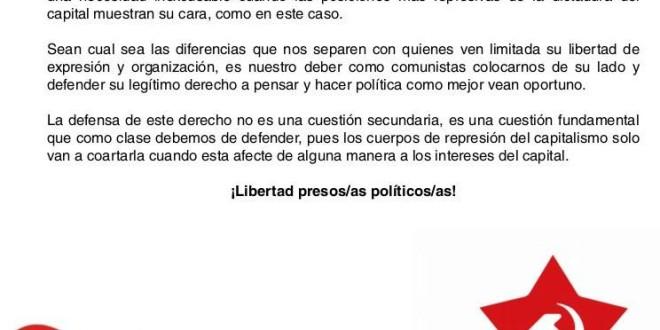 Comunicat del PCPE: Detenen de nou a Pablo Hasel