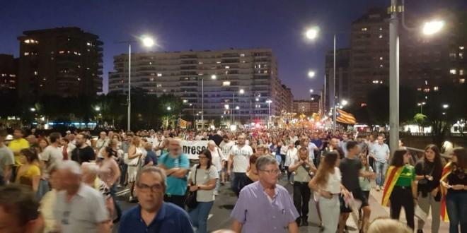 Manifestació a Lleida 1 d'Octubre de 2019