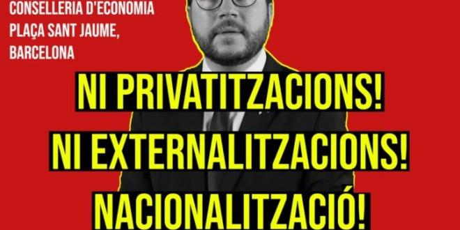 """Manifestació 19 d'octubre """"LLei Aragonès""""- Bloc propi del PCPC"""