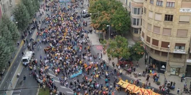 Crònica manifestació a LLeida 18 d'octubre