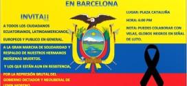 Aturem la massacre contra el Poble Equatorià!