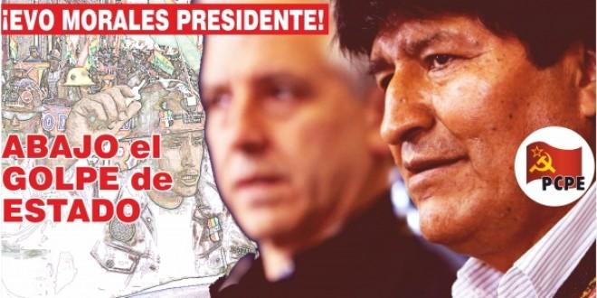 Primer comunicado del PCPE ante el golpe de Estado en Bolivia