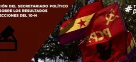 DECLARACIÓN DEL SECRETARIADO POLÍTICO DEL PCPE SOBRE LOS RESULTADOS DE LAS ELECCIONES DEL 10-N