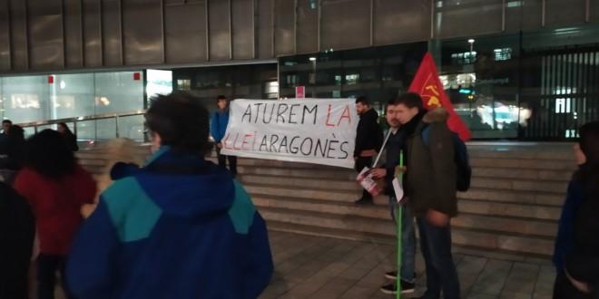 Cronica Concentració contra la Llei Aragonès
