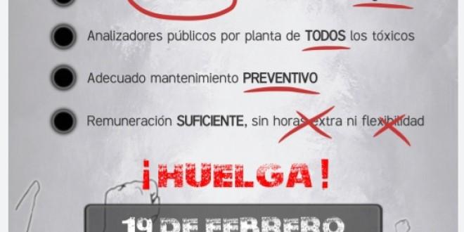 19 Febrer Vaga a la Petroquímica de la província de Tarragona
