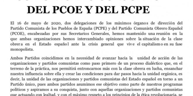 Comunicado conjunto del PCOE y del PCPE