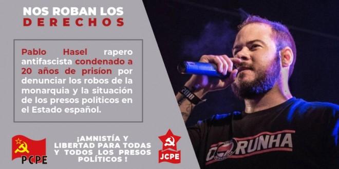Ante la petición de ingreso en prisión del rapero Pablo Hasél