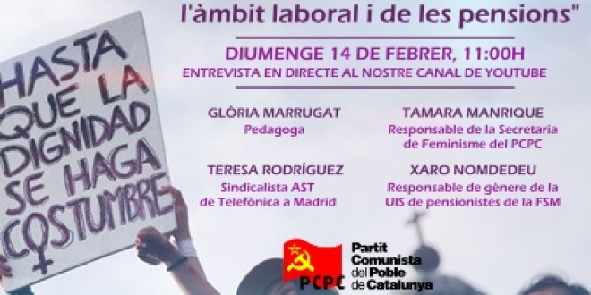 Situació i lluita de les dones treballadores en l'àmbit laboral i de les pensions