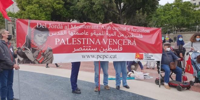 Crònica concentració de Solidaritat amb Palestina del passat 23 de maig