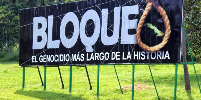 Contra el bloqueig a Cuba