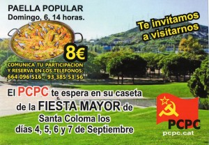 Cartel del PCPC de La Fiesta Mayor  2015